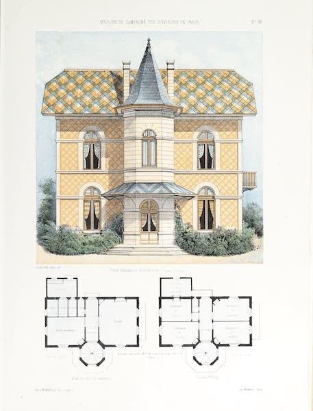 Maisons de Campagne des Environs de Paris - Habitation bourgeoise (genre rustique) (1850)