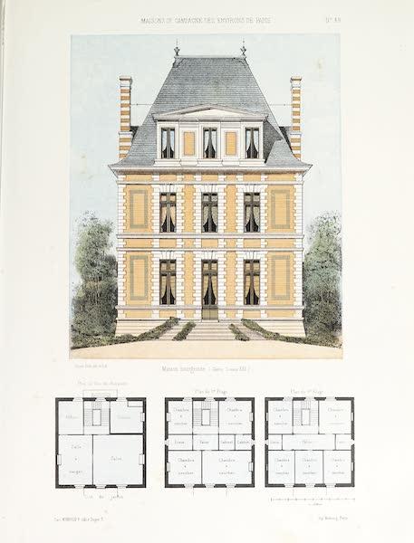 Maisons de Campagne des Environs de Paris - Maison bourgeoise (genre Louis XII) (1850)