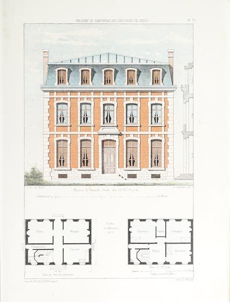 Maisons de Campagne des Environs de Paris - Maison de famille (style du XVIIIe siècle) (1850)