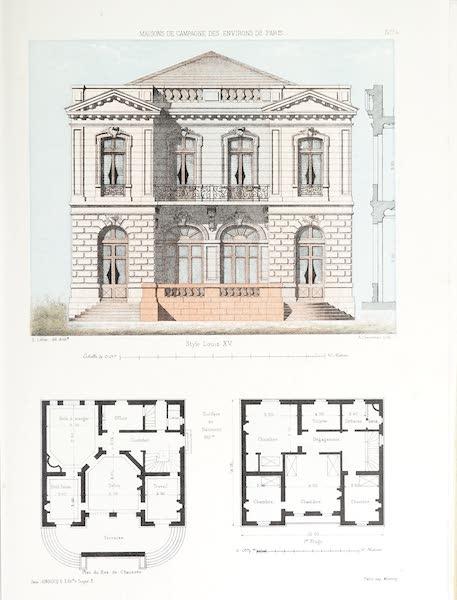 Maisons de Campagne des Environs de Paris - Grande maison (style Louis XV), avec terrasse (1850)
