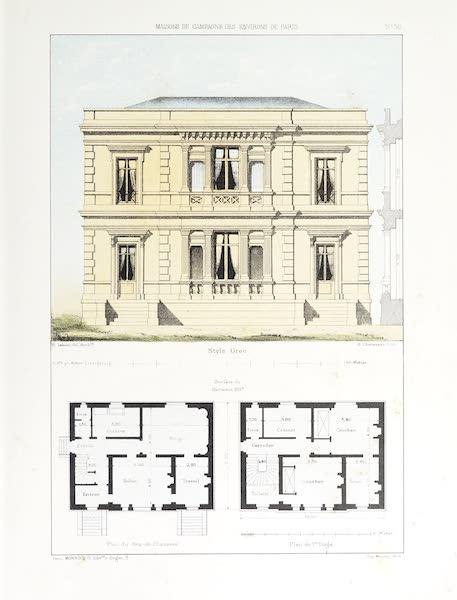Maisons de Campagne des Environs de Paris - Maison (style grec) (1850)