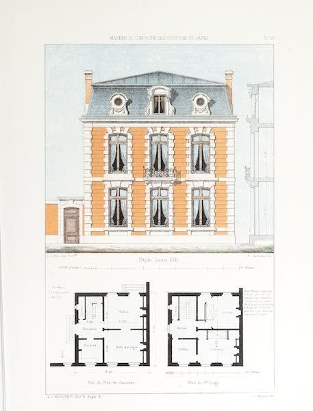 Maisons de Campagne des Environs de Paris - Petite maison (style Louis XIII) (1850)
