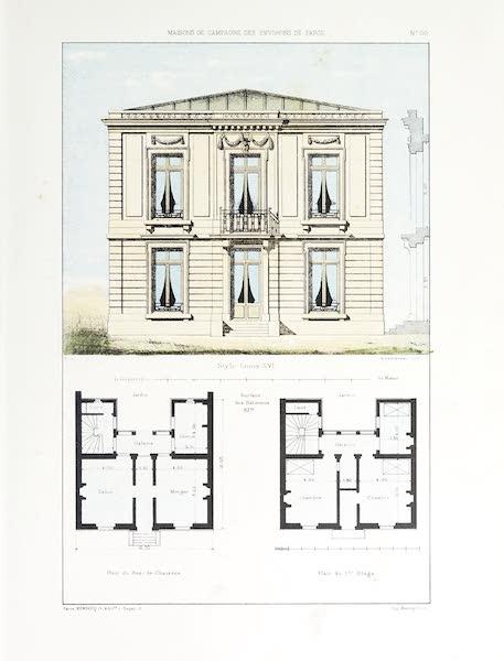 Maisons de Campagne des Environs de Paris - Petite maison de campagne (genre Louis XVI) (1850)