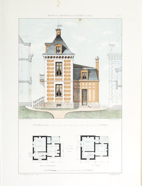 Maisons de Campagne des Environs de Paris - Petit pavillon (1850)