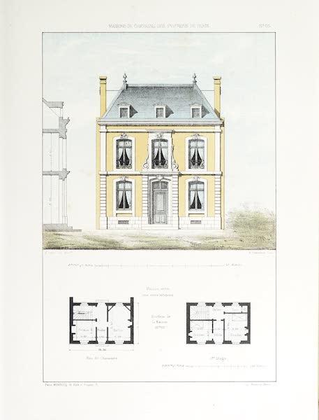 Maisons de Campagne des Environs de Paris - Maison entre deux murs mitoyens (1850)