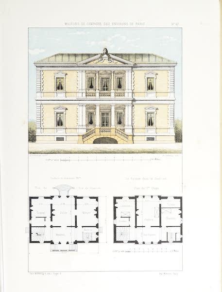 Maisons de Campagne des Environs de Paris - Maison bourgeoise avec perron (genre italien) (1850)