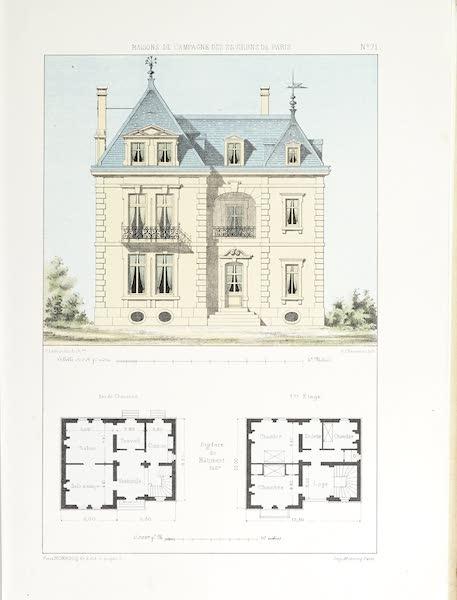 Maisons de Campagne des Environs de Paris - Maison avec pavillon (1850)