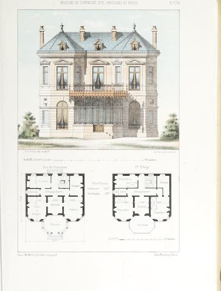 Maisons de Campagne des Environs de Paris - Maison bourgeoise avec terrasse (1850)