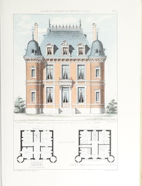 Maisons de Campagne des Environs de Paris - Petit château avec tourelles (1850)