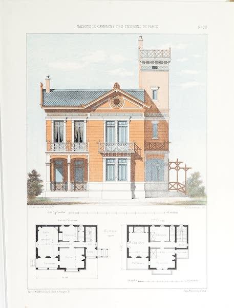 Maisons de Campagne des Environs de Paris - Maison avec belvédère (1850)