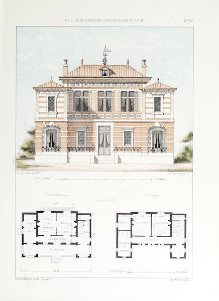 Maisons de Campagne des Environs de Paris - Maison de campagne avec parterre (1850)