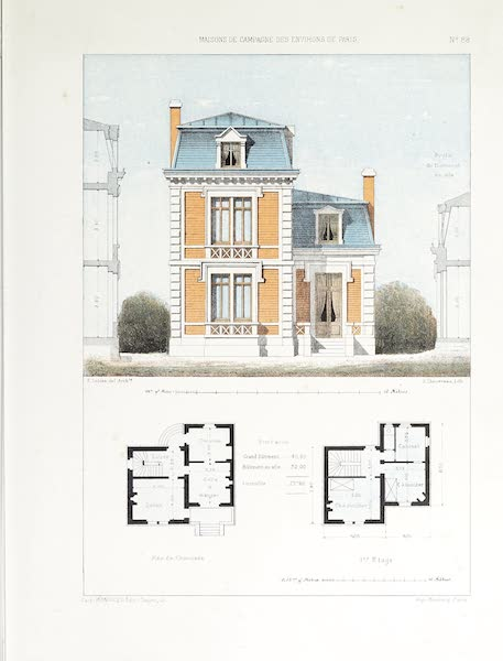 Maisons de Campagne des Environs de Paris - Pavillon de garde (1850)