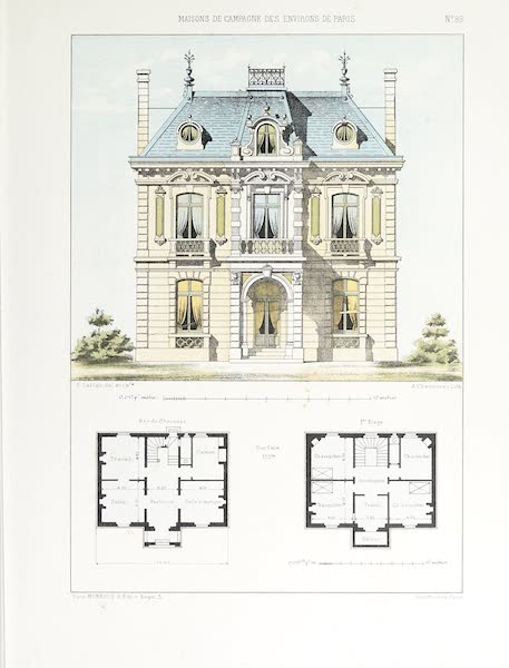 Maisons de Campagne des Environs de Paris - Petit château (1850)