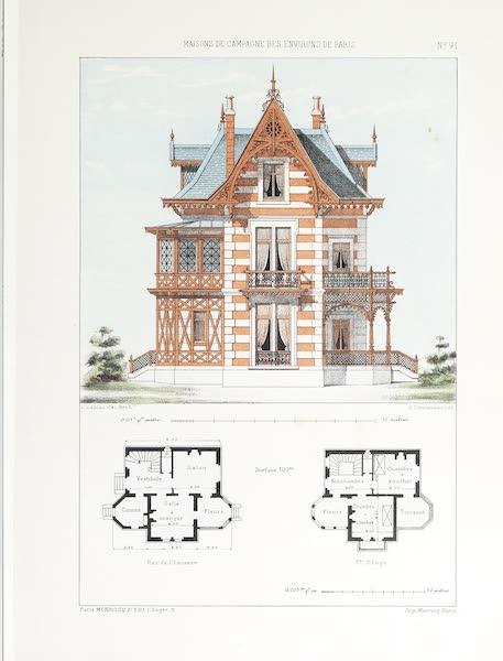 Maisons de Campagne des Environs de Paris - Chalet avec terrasse (1850)