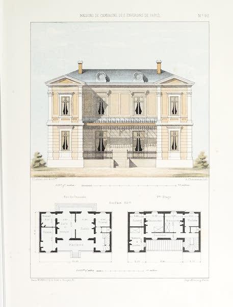 Maisons de Campagne des Environs de Paris - Grande maison bourgeoise (1850)