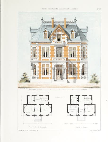Maisons de Campagne des Environs de Paris - Petit château (style Louis XIII) (1850)