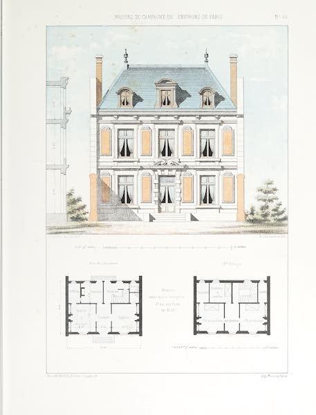 Maisons de Campagne des Environs de Paris - Maison entre murs mitoyens (1850)
