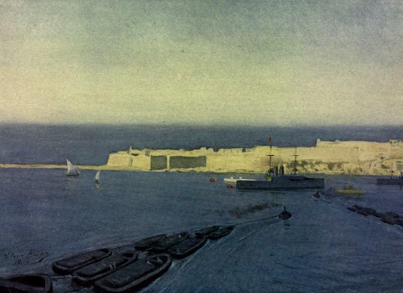 Malta, Painted and Described - Fort Ricasoli, Valletta (1910)