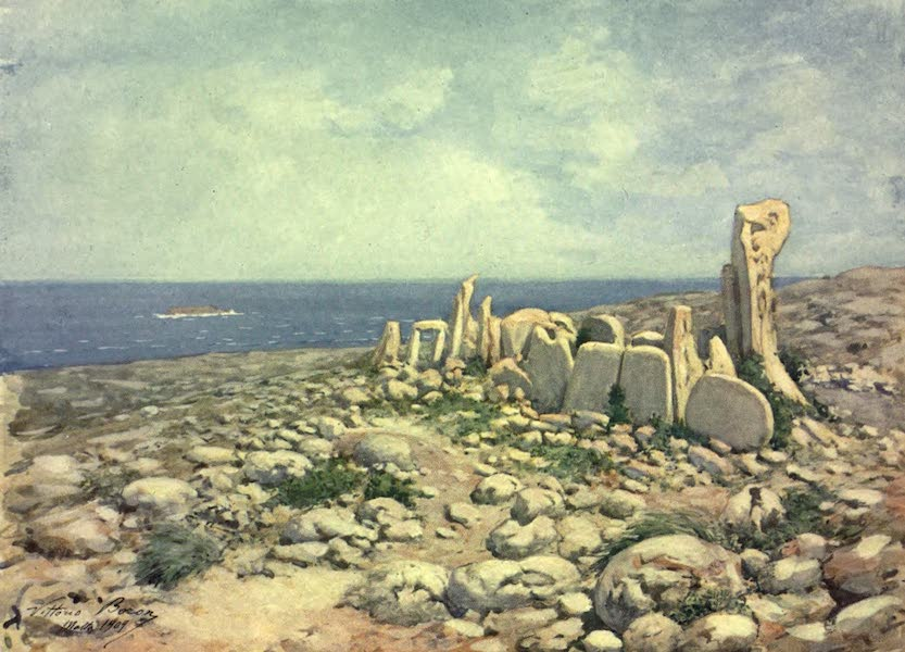 Malta, Painted and Described - Hagiar Kim, Malta (1910)