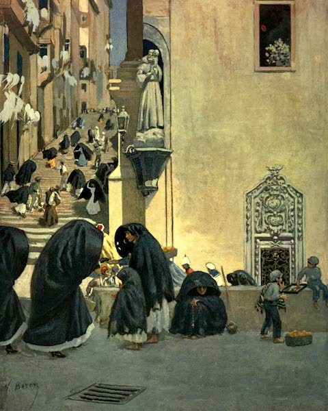 Malta, Painted and Described - A Corner of the Church of San Francesco in Valletta (1910)