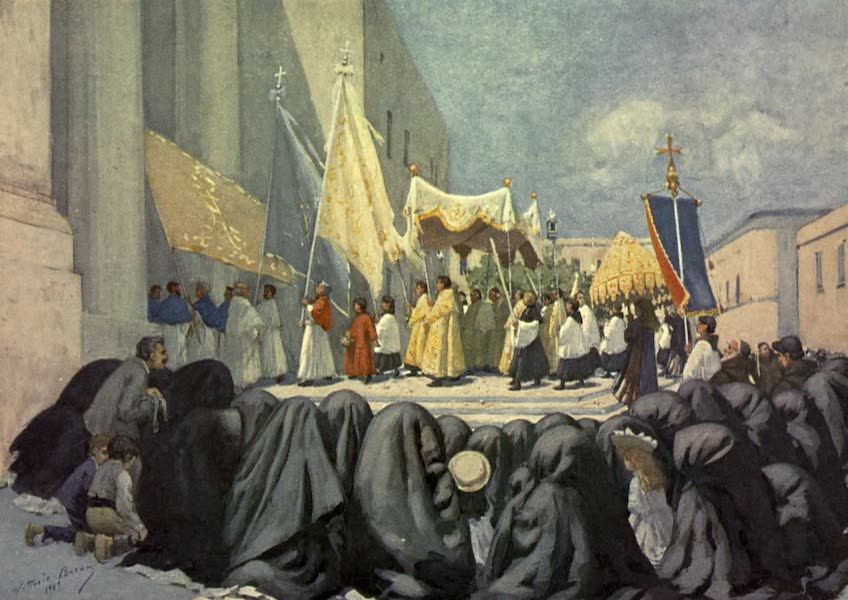 Malta, Painted and Described - The Procession of the Festa di San Giovanni, Valletta (1910)