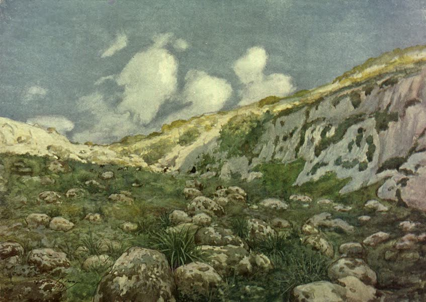 Malta, Painted and Described - A Solitary Valley, Gozo (1910)