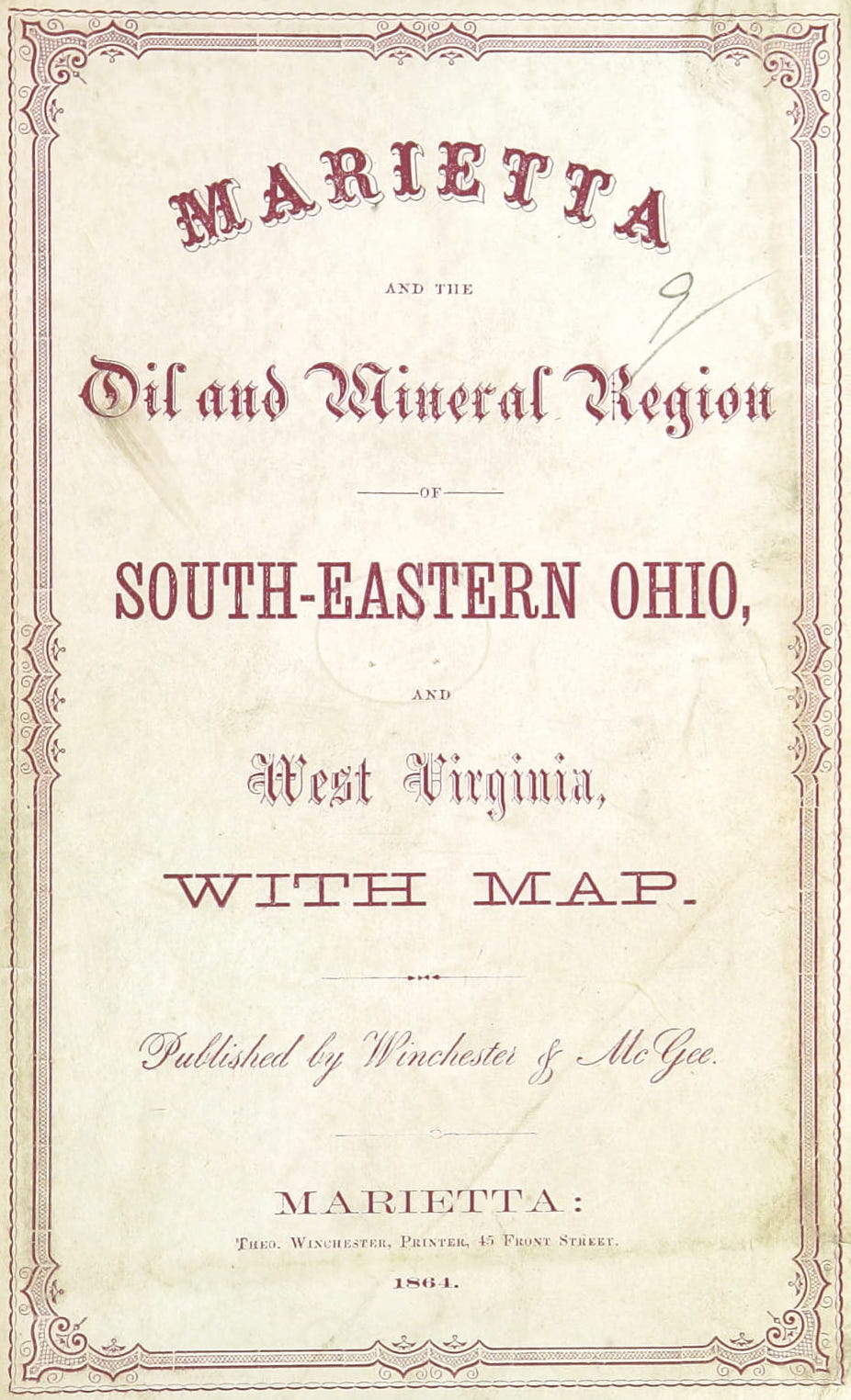 Marietta, and the Oil and Mineral Region - Title Page (1864)