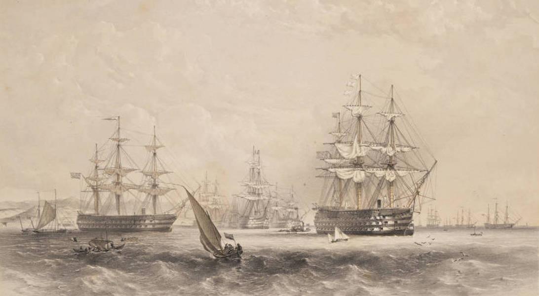 Marine and Coast Sketches of the Black Sea, Sea of Azoff &c. - H.M.S. Royal Albert 131 Guns (1856)
