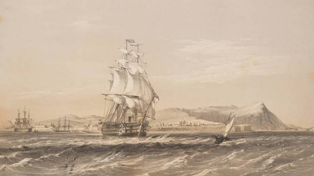 Marine and Coast Sketches of the Black Sea, Sea of Azoff &c. - H.M.S. ''Hannibal'' 91 Guns (1856)