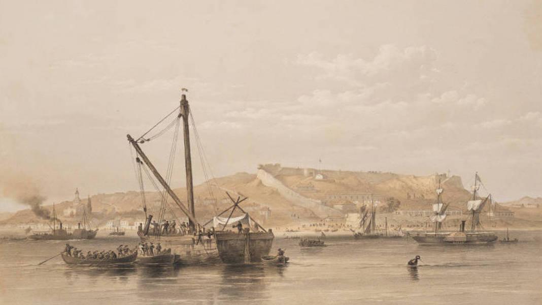 Marine and Coast Sketches of the Black Sea, Sea of Azoff &c. - Yeni Kaleh, Straits of Kertch (1856)