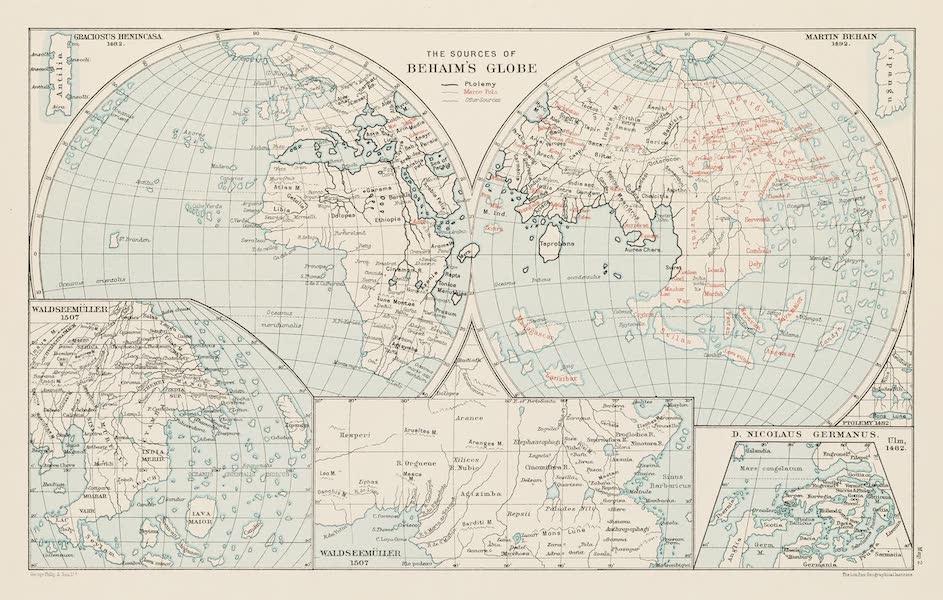 Martin Behaim, His Life and His Globe - The Sources of Behaim's Globe (1908)