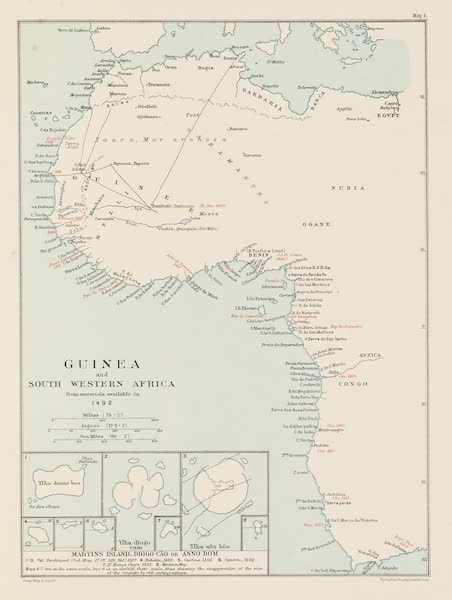 Martin Behaim, His Life and His Globe - Guinea and South Western Africa (1908)