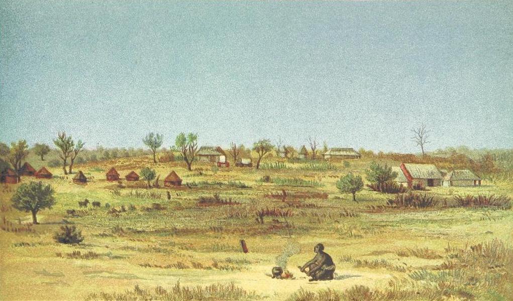 Matabele Land and the Victoria Falls - Tati Settlement (1881)