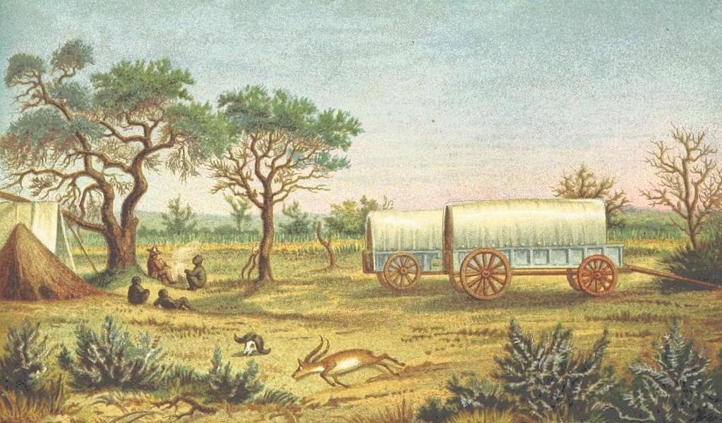 Matabele Land and the Victoria Falls - Hunters' Camp on the Semokewe River (1881)