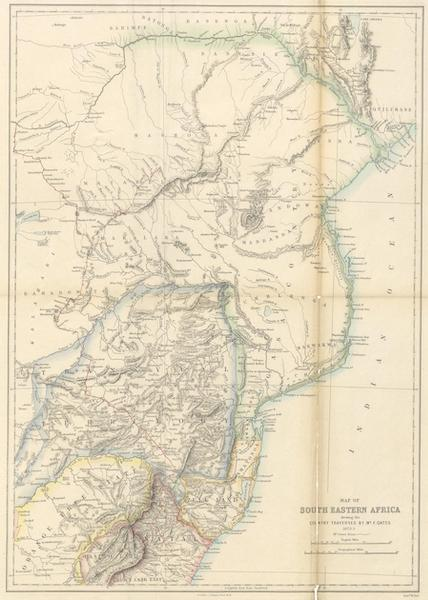 Matabele Land and the Victoria Falls - Map of South Eastern Africa (1881)