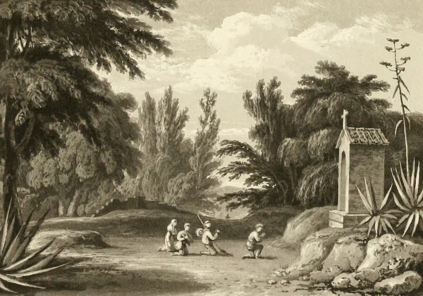 Memoir Descriptive of the Resources, Inhabitants, and Hydrography, of Sicily - View on the Parco Road near Palermo (1824)