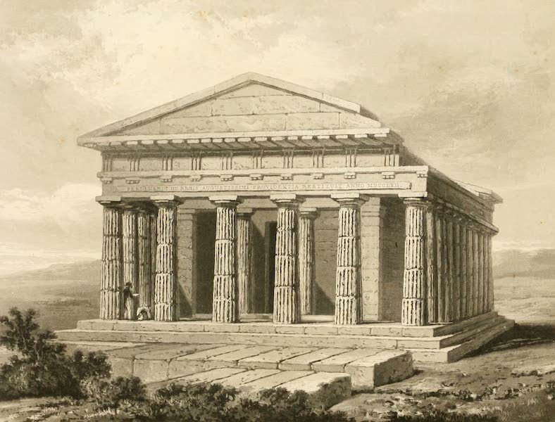 Memoir Descriptive of the Resources, Inhabitants, and Hydrography, of Sicily - Temple of Concord at Girgenti (1824)