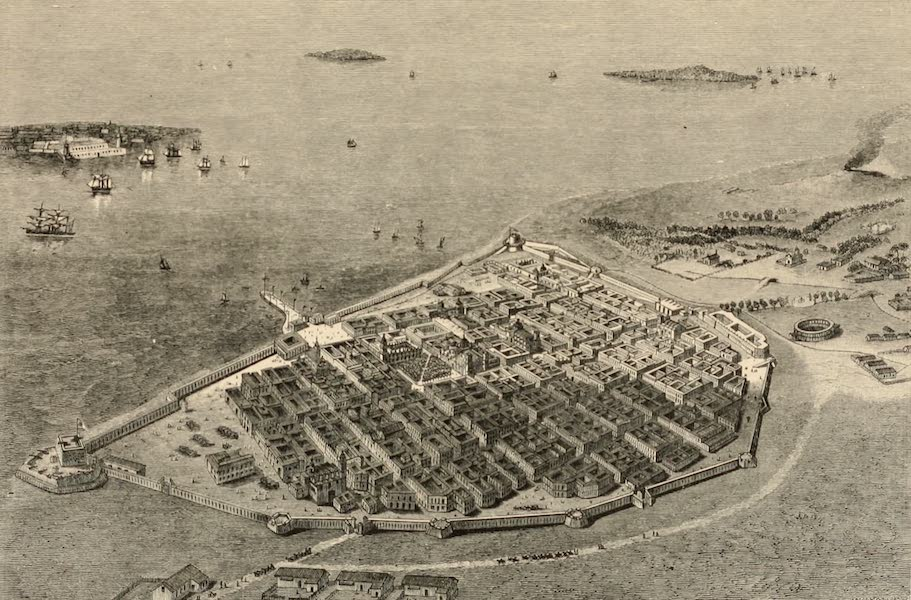 Mexico To-Day - Birds-Eye View of Vera Cruz (1883)