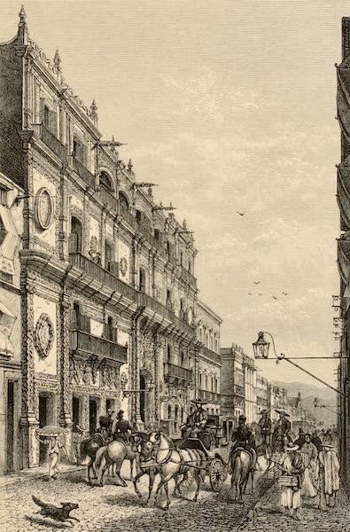 Mexico To-Day - Hotel Iturbidge, Calle San Francisco (1883)