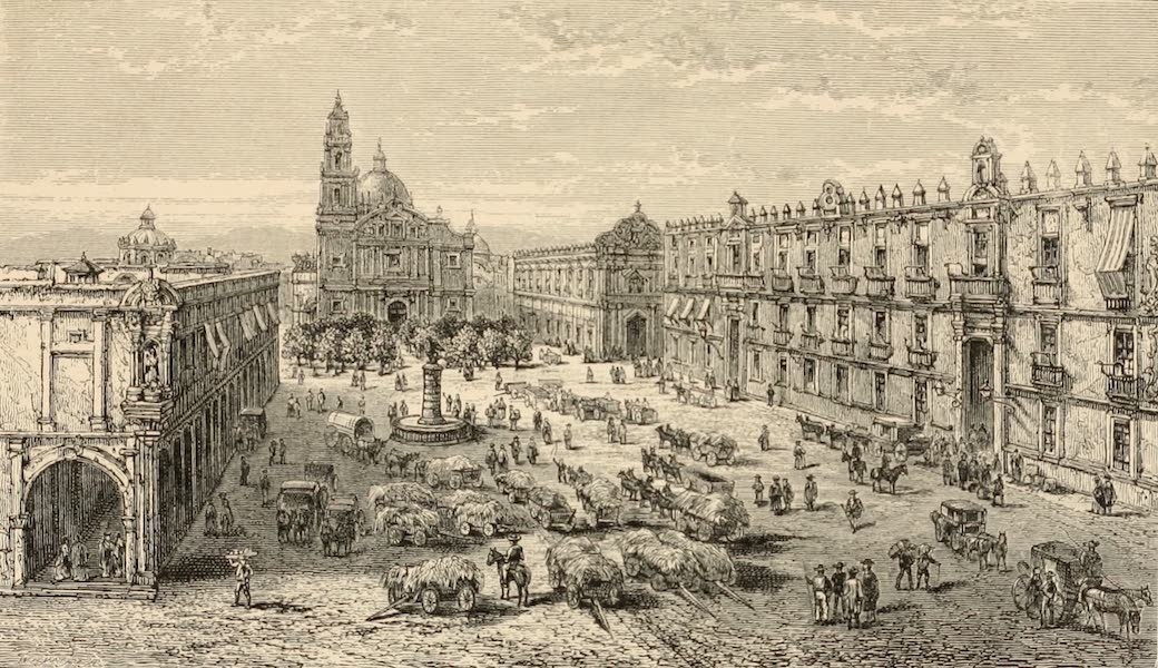 Mexico To-Day - The Plaza of San Domingo (1883)