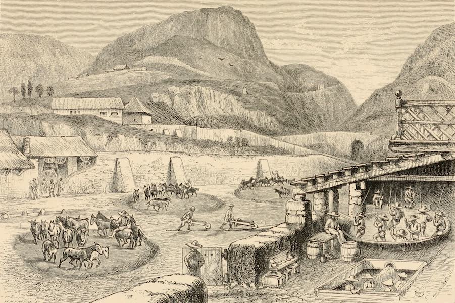 Mexico To-Day - The Benificiating Hacienda of Loretto Pachuca (1883)