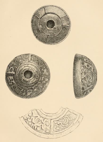 Mexico To-Day - Whorls or Spindle Heads in Clay (exact size) (1883)