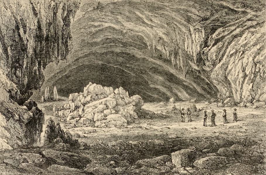 Mexico To-Day - Entrance to Limestone Cave at Cacahuamilpa (1883)