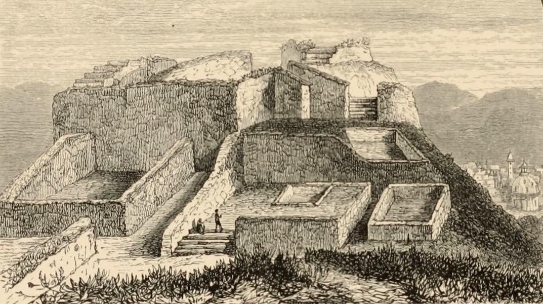 Mexico To-Day - Toltec Palace at Tula (1883)