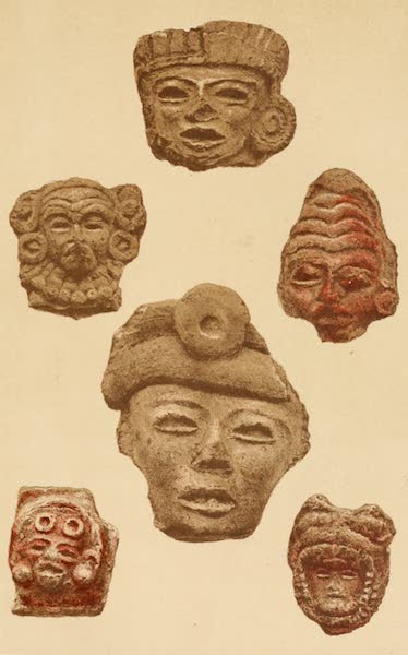 Mexico To-Day - Clay heads found in great quantities on the sites of ancient Aztec cities (III) (1883)