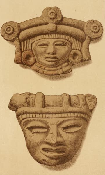 Mexico To-Day - Clay heads found in great quantities on the sites of ancient Aztec cities (IV) (1883)