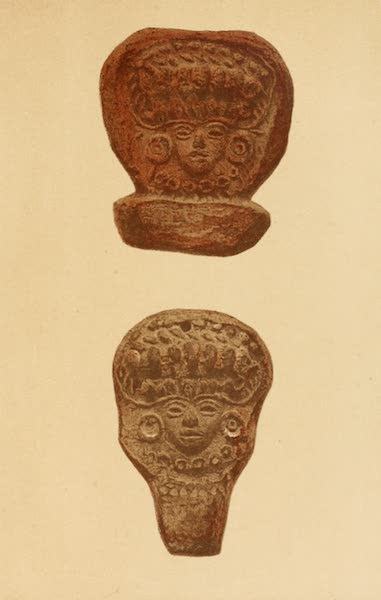 Mexico To-Day - Clay heads found in great quantities on the sites of ancient Aztec cities (V) (1883)