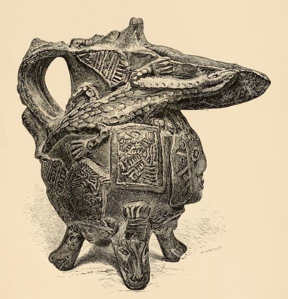 Mexico To-Day - Aztec Jug in Black Clay (10 inches high) (1883)
