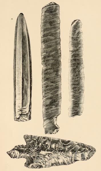 Mexico To-Day - Obsidian Knives and Arrow Head (1883)