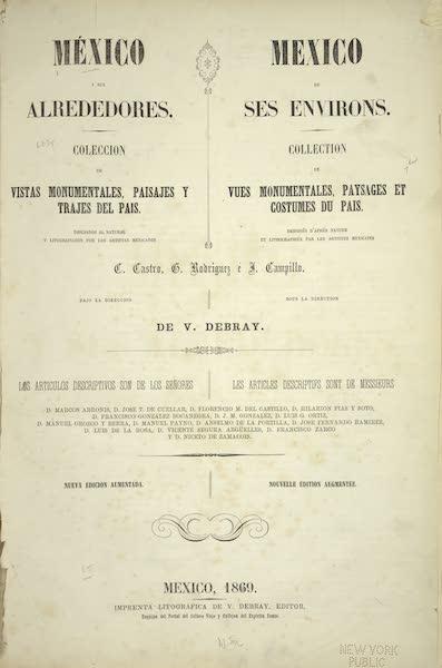 Mexico y sus Alrededories - Title Page (1869)